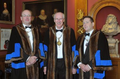 The Master Colin Goodman, The Upper Warden James Lee and the Renter Warden Darren Isaacs