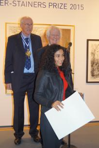 Ema Pina receiving the Brian Botting Prize