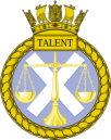 HMS TALENT Badge