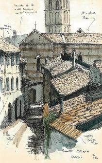 Roofscape Assissi - Chris Blessington