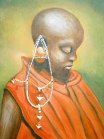 Maasai with Earring - Chris Blessington