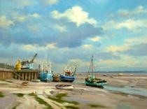 Low Water Leigh on Sea - Denis Pannett