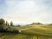 Tuscan Hilltop - Edward Fremantle