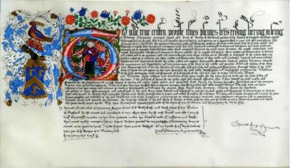 Replica of the Grant of Arms by Liveryman John Ward