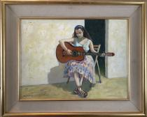 Eveline with Guitar